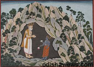 God Vishnu Appears to Muchhukunda in a Cave